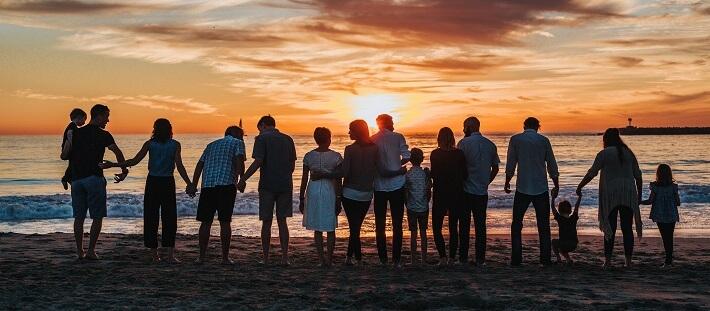 Mesothelioma Family on a beach